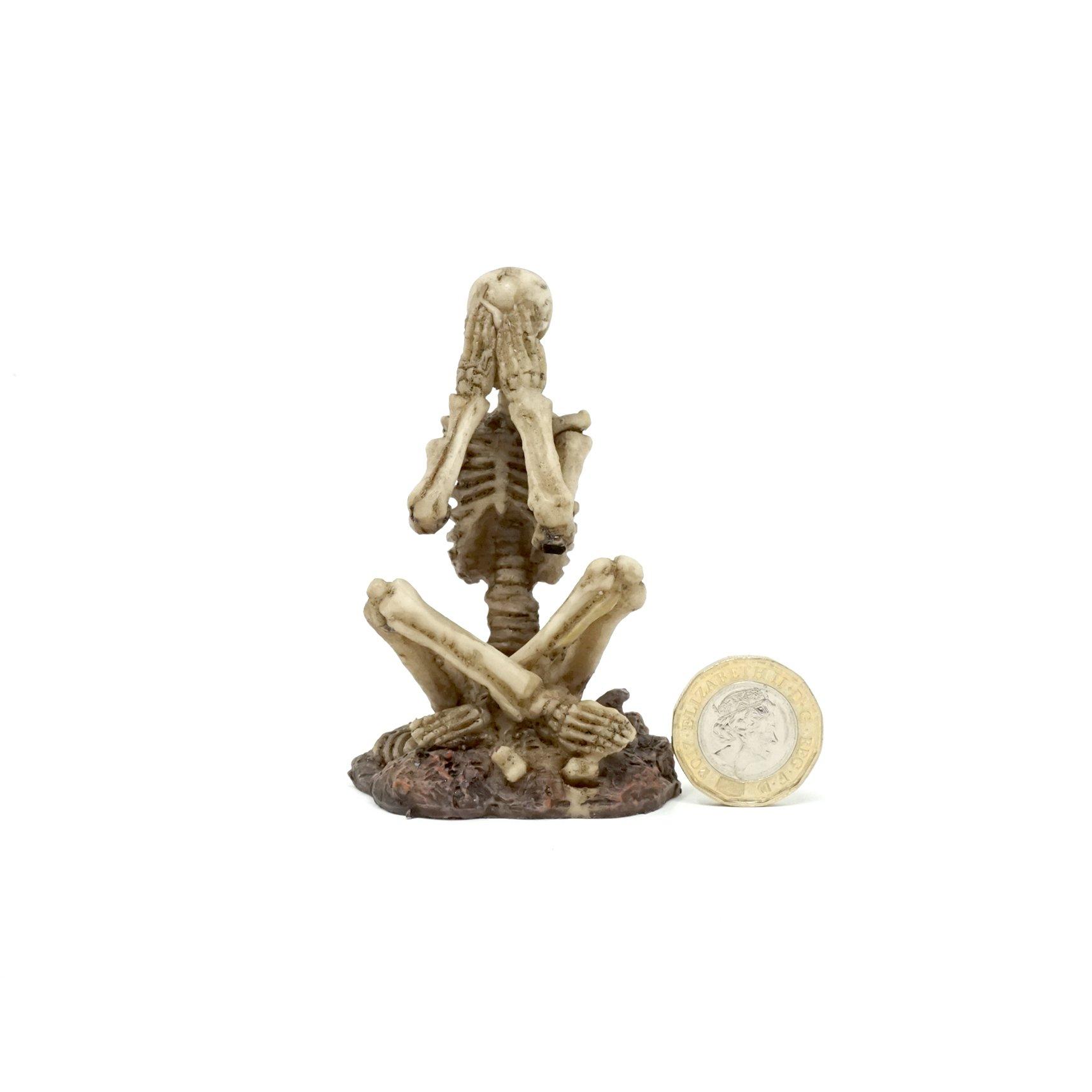 Sitting Skeleton - Speak No Evil